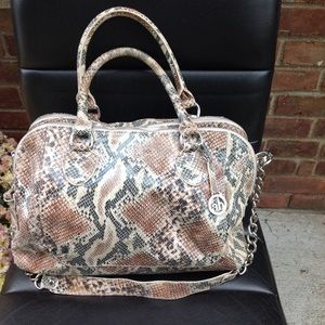 Audrey Brooke  extra large leather snake  tote